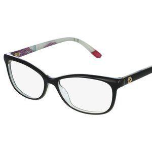 Gucci GG3699/N Z96 Black Floral Eyeglasses Frame